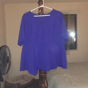 Lane Bryant Royal Blue/Purple Peplum Top